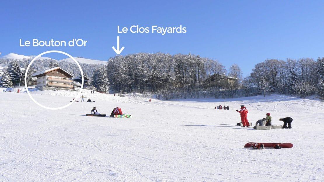 La Clusaz Locations - Chalet le Bouton d'Or - Chalet le Clos Fayards - Pistes de ski