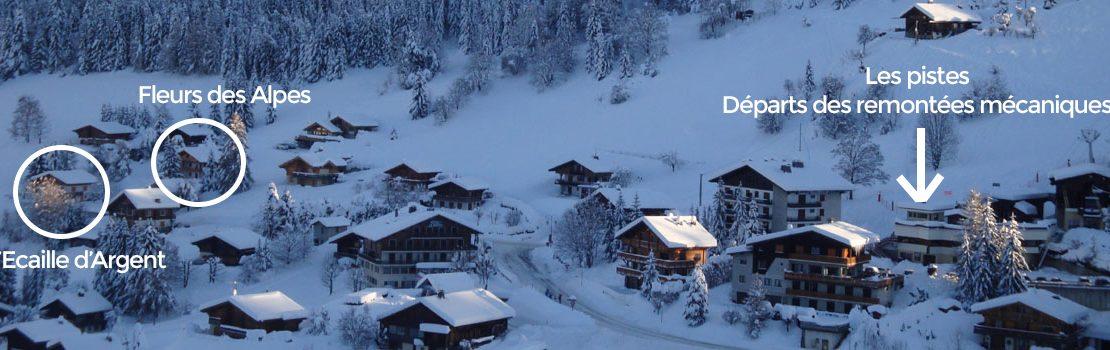 La Clusaz Locations - Chalet Ecaille d'Argent - Chalet Fleurs des Alpes - Départ des pistes