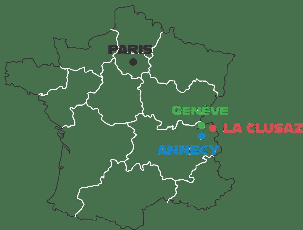 Carte situation La Clusaz
